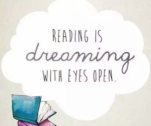 book, dreaming, and reading image