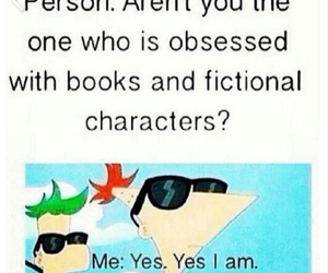 book, obsessed, and fictional characters image