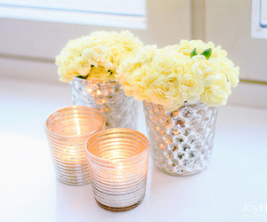candle and rose image