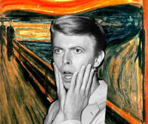 art, munch, and david bowie image