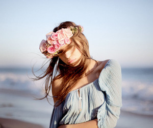 flower crown and girl image