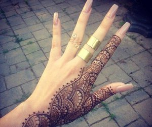 cool, tattoo, and nails image