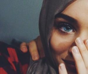 beautiful, muslima, and hijab image