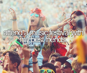 festival, music, and bucket list image