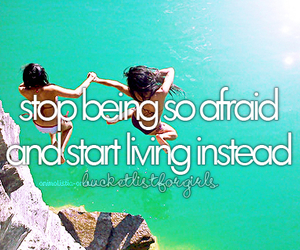live, bucket list, and quote image