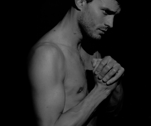 black and white, Jamie Dornan, and fifty shades of grey image