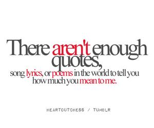 enough, Lyrics, and me image