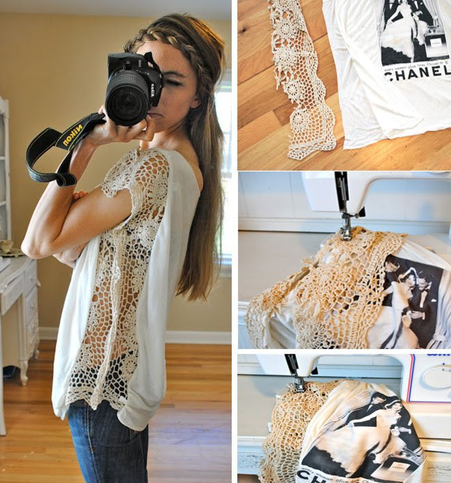 diy, clothes, and lace image