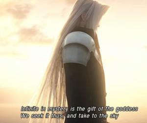 final fantasy, Sephiroth, and VII image