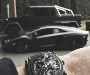 black, car, and watch image
