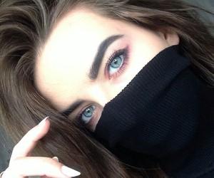 girl, eyes, and hair image