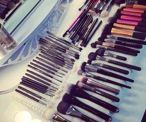 beauty, Brushes, and make up image