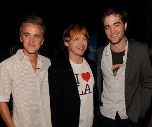 robert pattinson, rupert grint, and tom felton image
