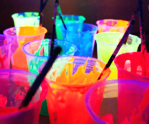 colors, neon, and drink image