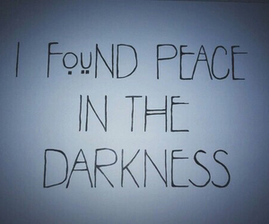 Darkness, peace, and grunge image