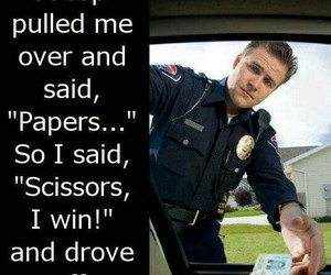 funny, cops, and scissors image