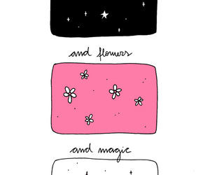 flowers, stars, and magic image