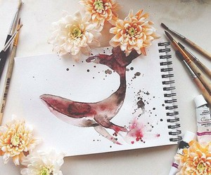 flowers, draw, and picture image