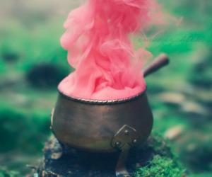 pink, smoke, and magic image