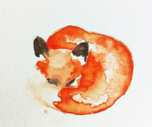 fox, art, and watercolor image