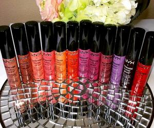 beauty, lip gloss, and NYX image