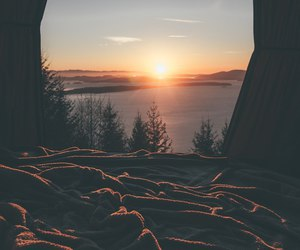 sun, sunset, and travel image