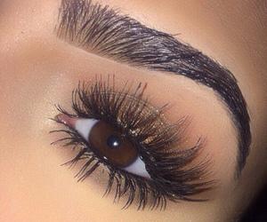 eye, eye make up, and eyebrows image