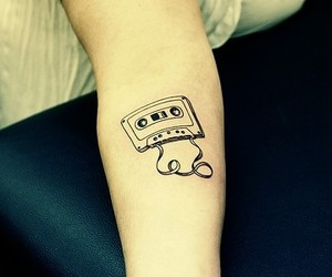 cassette tape, tape, and tattoo image