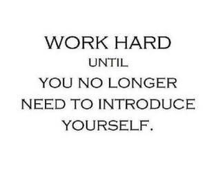 work hard and quote image