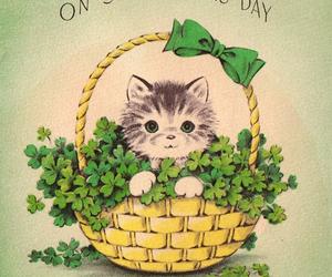 illustration, kitty, and st. patricks day image