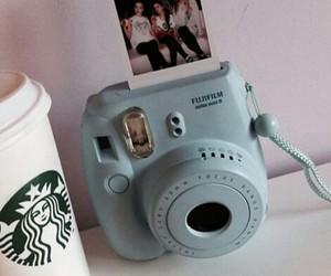 blue, coffee, and polaroid image