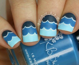 blue, nails, and waves image