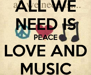 music, peace, and rock image