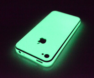 iphone, green, and apple image