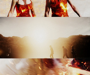 katniss everdeen, Jennifer Lawrence, and peeta mellark image