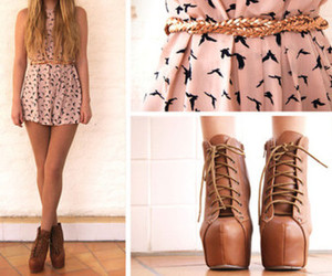 dress, shoes, and pink image