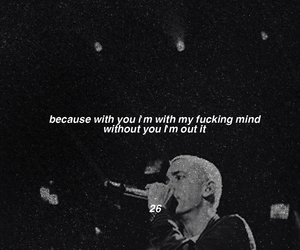 black and white, eminem, and quote image