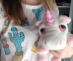 unicorn, pink, and pale image