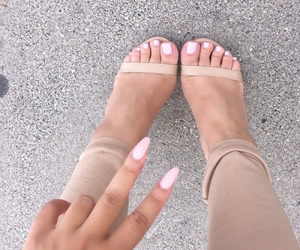 nails, fashion, and heels image