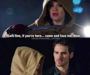 belle, once upon a time, and captain hook image