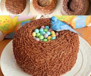 cake, bird, and food image