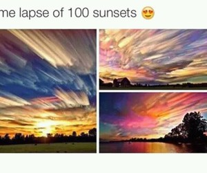 sunset, beautiful, and time lapse image