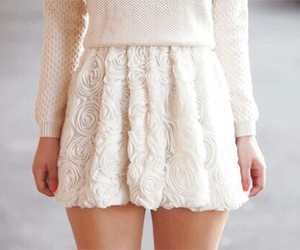 fashion, skirt, and white image
