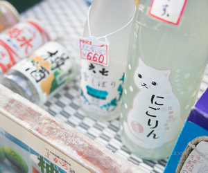drink, japan, and cat image