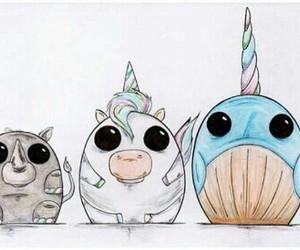 rhino, unicorn, and wale image