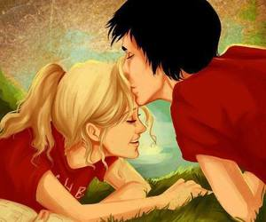 love, percabeth, and kiss image