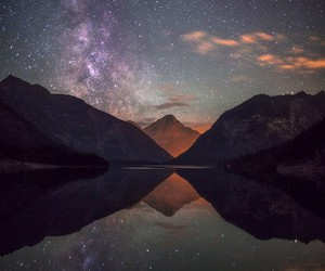 landscape, photography, and stars image
