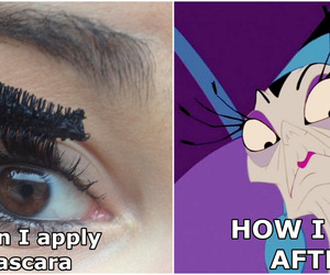 disney, makeup, and mascara image