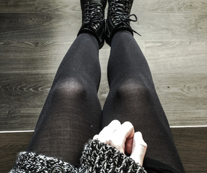 black shoes, goth, and grunge image