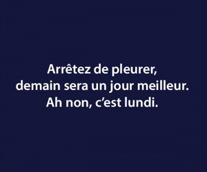 french, funny, and monday image